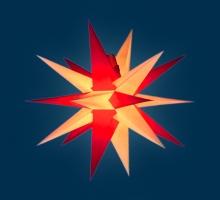 org. Annaberger Faltstern No. 7, 67 cm Durchmesser, rot-gelb