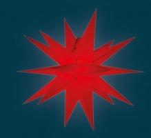org. Annaberger Faltstern No. 5, 58 cm Durchmesser, rot