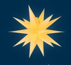 org. Annaberger Faltstern No. 7, 67 cm Durchmesser, gelb