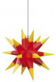 LED-STERN, rot mit gelben Spitzen