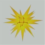 Stern i6 - 60cm Durchmesser gelb, orginal Herrnhuter