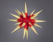 Stern i6 - 60cm Ø,  gelb mit rotem Kern, orginal Herrnhuter