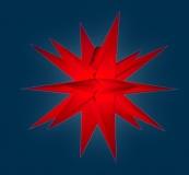 org. Annaberger Faltstern No. 3, 36 cm Durchmesser, rot